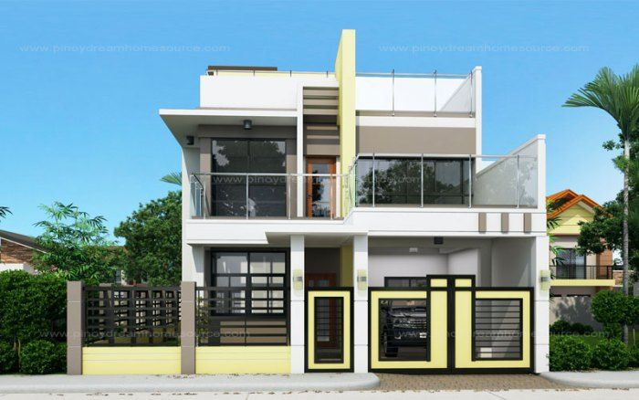 Prosperito single attached two story house design with for 10 best house designs by pinoy eplans