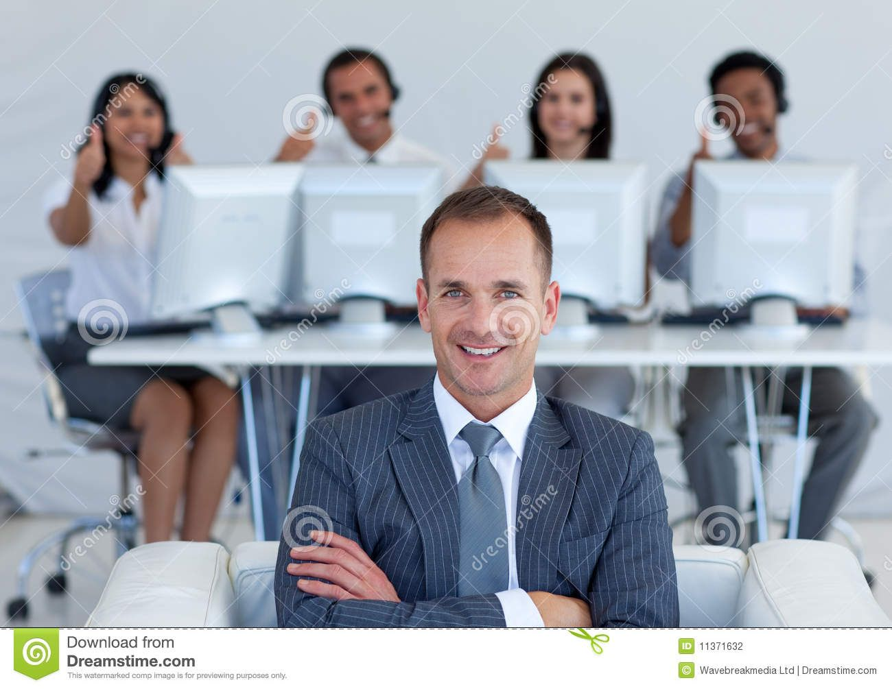 Manager In Call Center With His Team Smiling Manager In Call Center With His Te Sponsored Ad Ad Call Manager Te Cen Call Center Management Teams