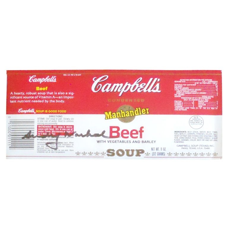 Andy Warhol Signed Framed Campbell's Soup Label