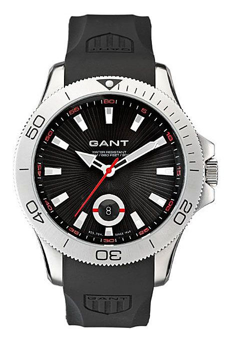 d6975c44590 Gantin sporttinen vesitiivis kello kumirannekkeella