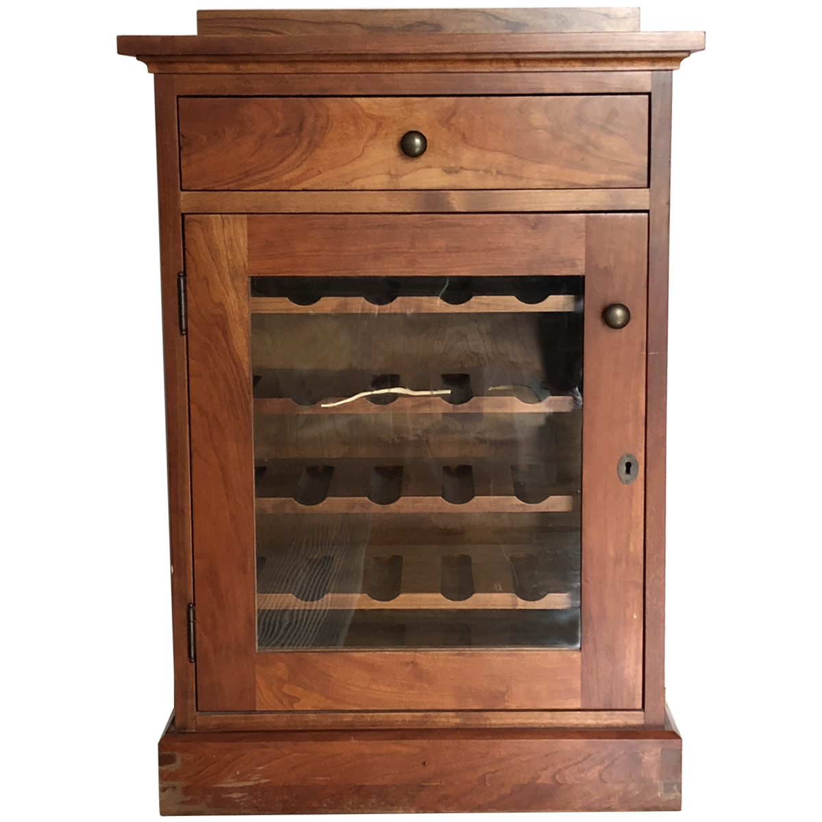 Traditional Cherry Wood Wine Cabinet | Wine cabinets ...