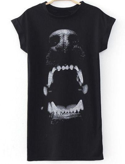 Shopping Goods Zebra Print Womens All over Print T shirt