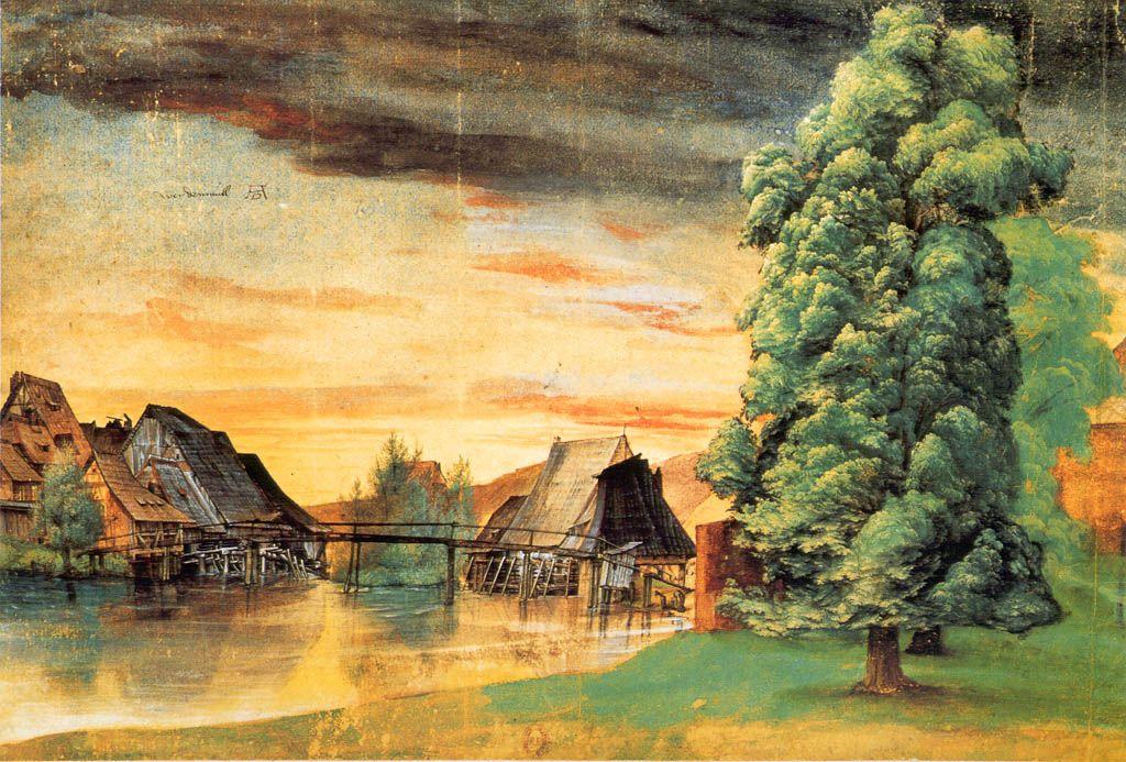 Albrecht Dürer - Willow Mill, 1496-1498