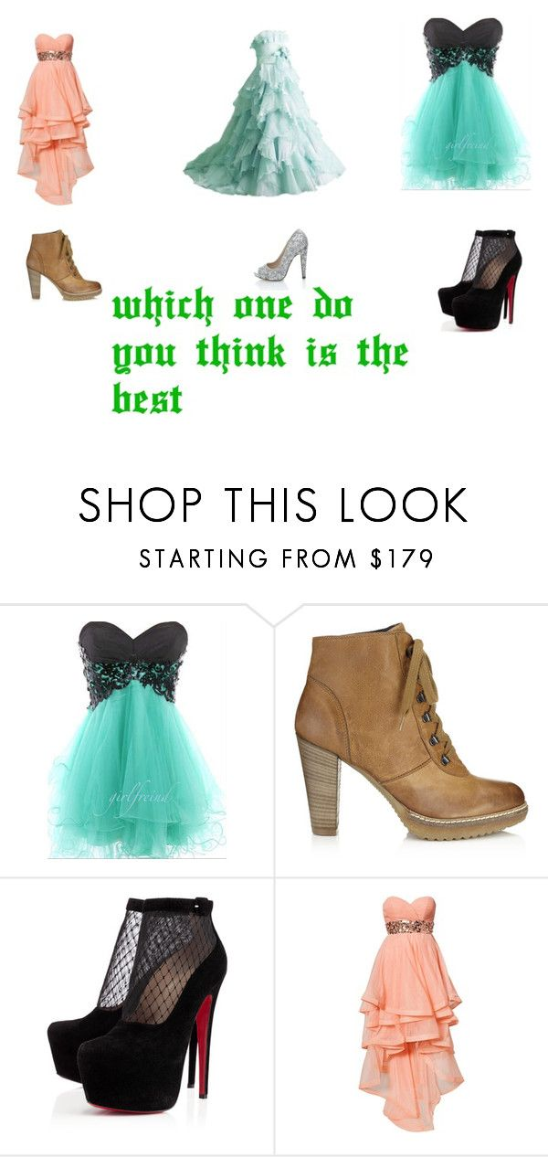"""""""which one do you think is best"""" by sydnik13 ❤ liked on Polyvore featuring Jigsaw, Christian Louboutin, Forever Unique and Quiz"""