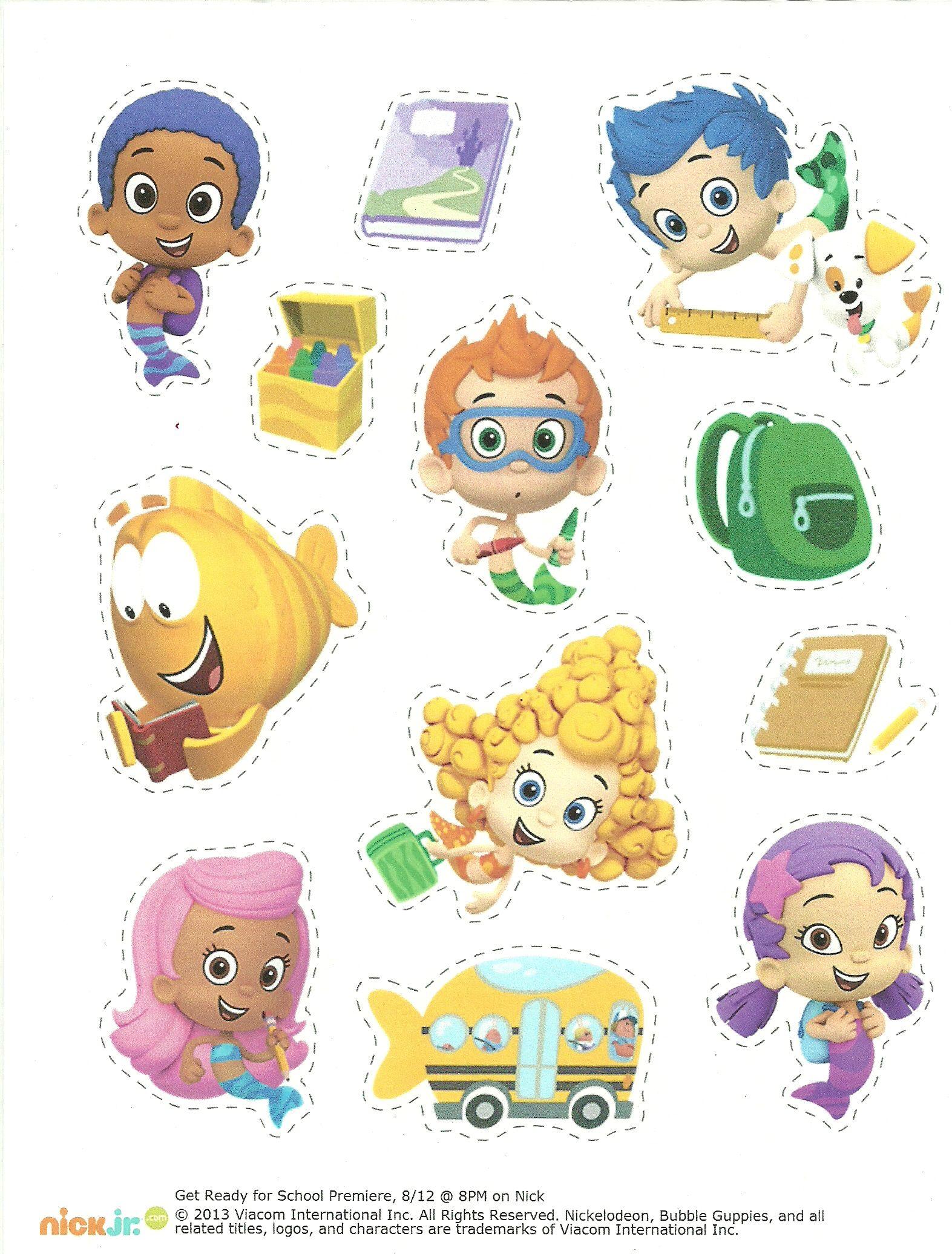Bubble Guppies Pencil Case Stickers