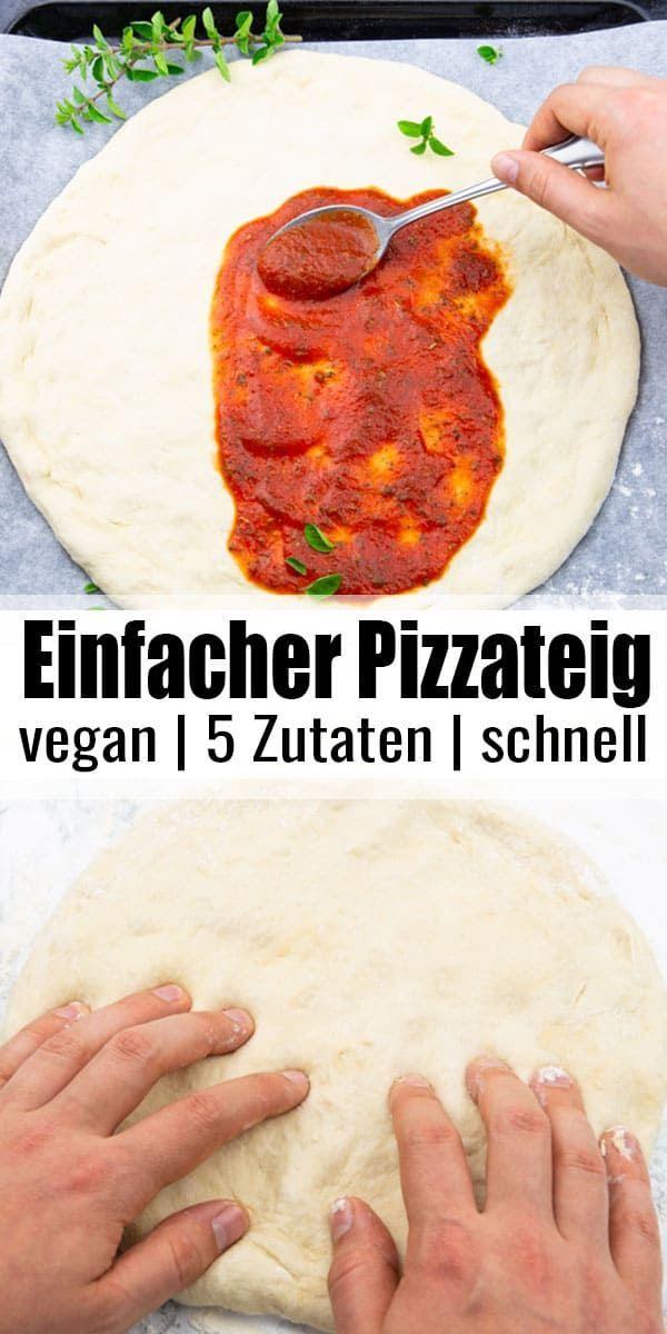 Pizzateig Rezept Veganes Fastfood Pizza Teig Pizzateig Rezept