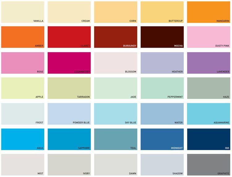 Dulux Paint Colour Chart Interior In 2020 Dulux Paint Colour Charts Paint Color Chart Dulux Kitchen Paint Colours