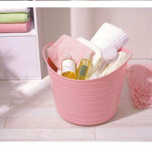 Pink Plastic Laundry Basket Pleasing Circle Shaped Softsided Laundry Basket Sbk400N Pinkiris Design Ideas