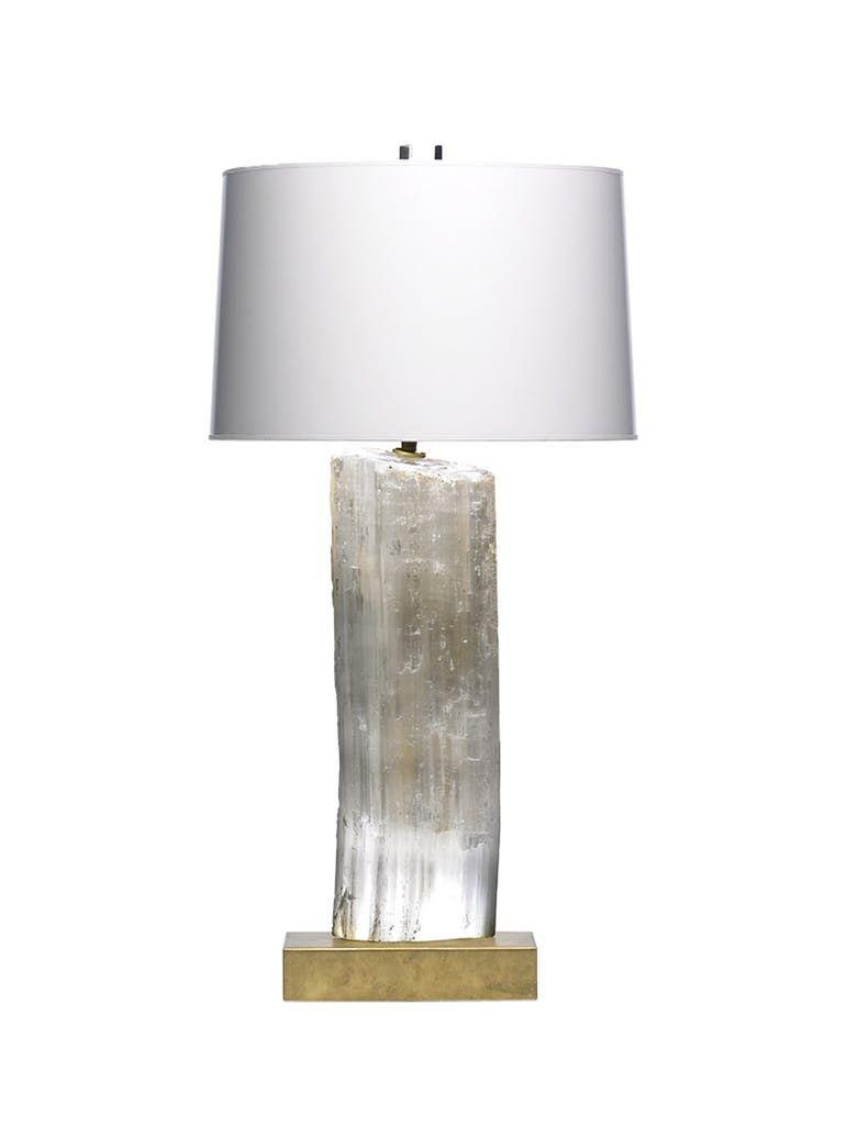 Selenite Lamp Sonya Contemporary Midcentury Modern Organic