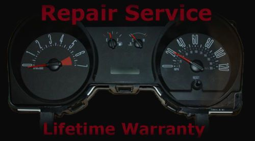 2005 Ford Mustang Gauge Sdometer Instrument Ipc Cer Repair Service