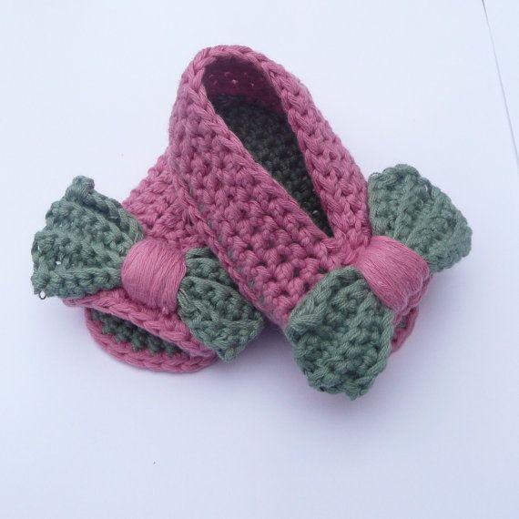 Crochet PATTERN BABY Shoes Baby Bow Peeptoe by Keen2Crochet, $4.50 ...