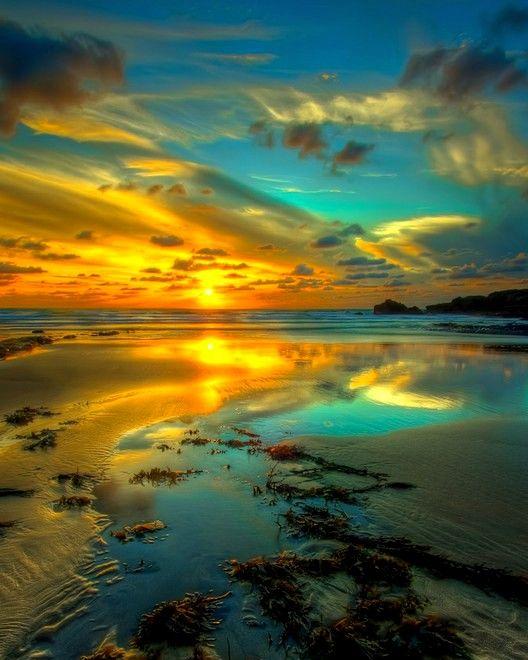 Beautiful sky, reflected