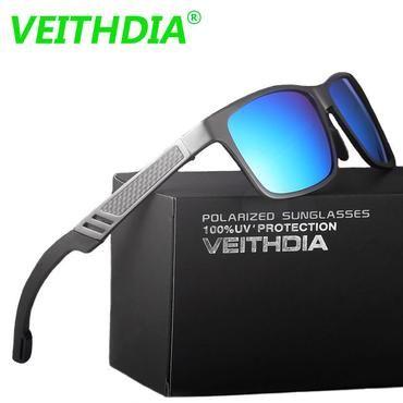 73783ce38f7b2 VEITHDIA Original Brand Logo HD Aluminum Magnesium Men Mirror Driving Glasses  Goggles Oculos De Sol Polarized
