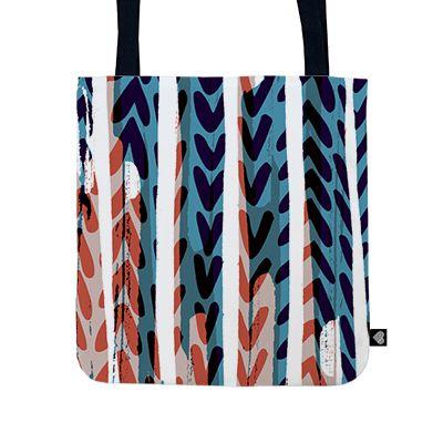 Painted chevrons bag