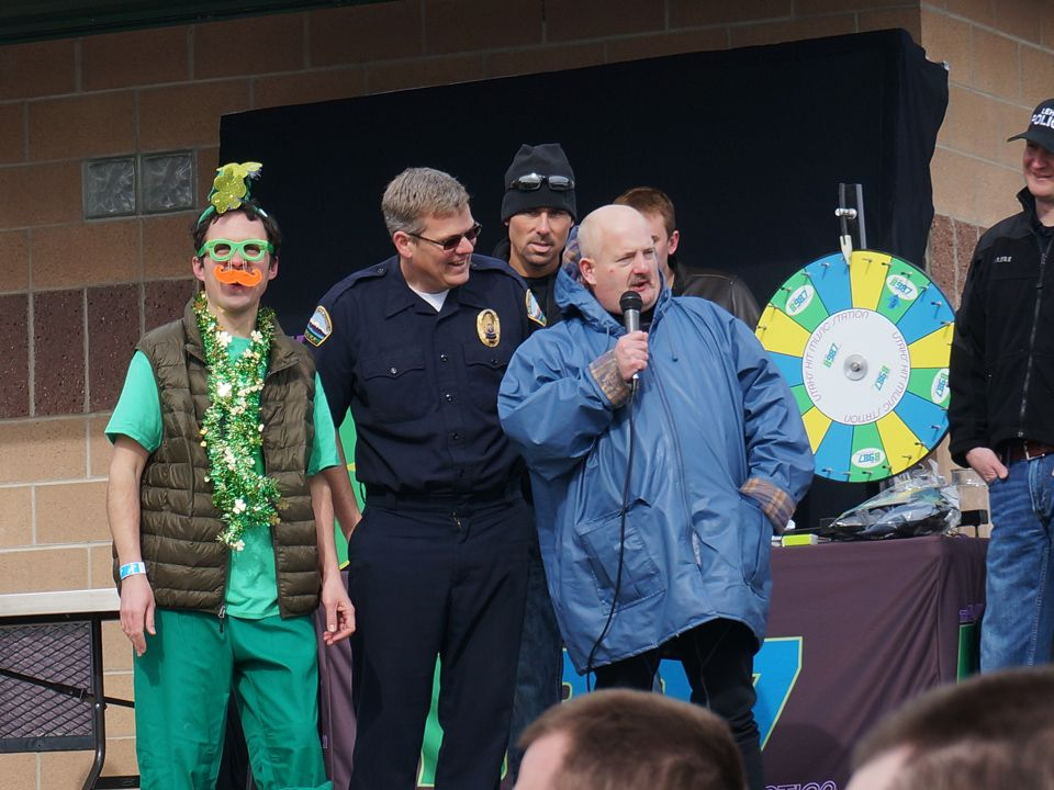 Special Olympics athlete kicking off the Polar Plunge. Polar Plunge ...
