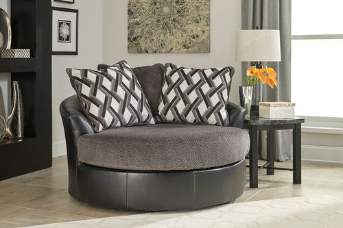 Ashley Kumasi Smoke Oversized Swivel Accent Chair in 2018 Products