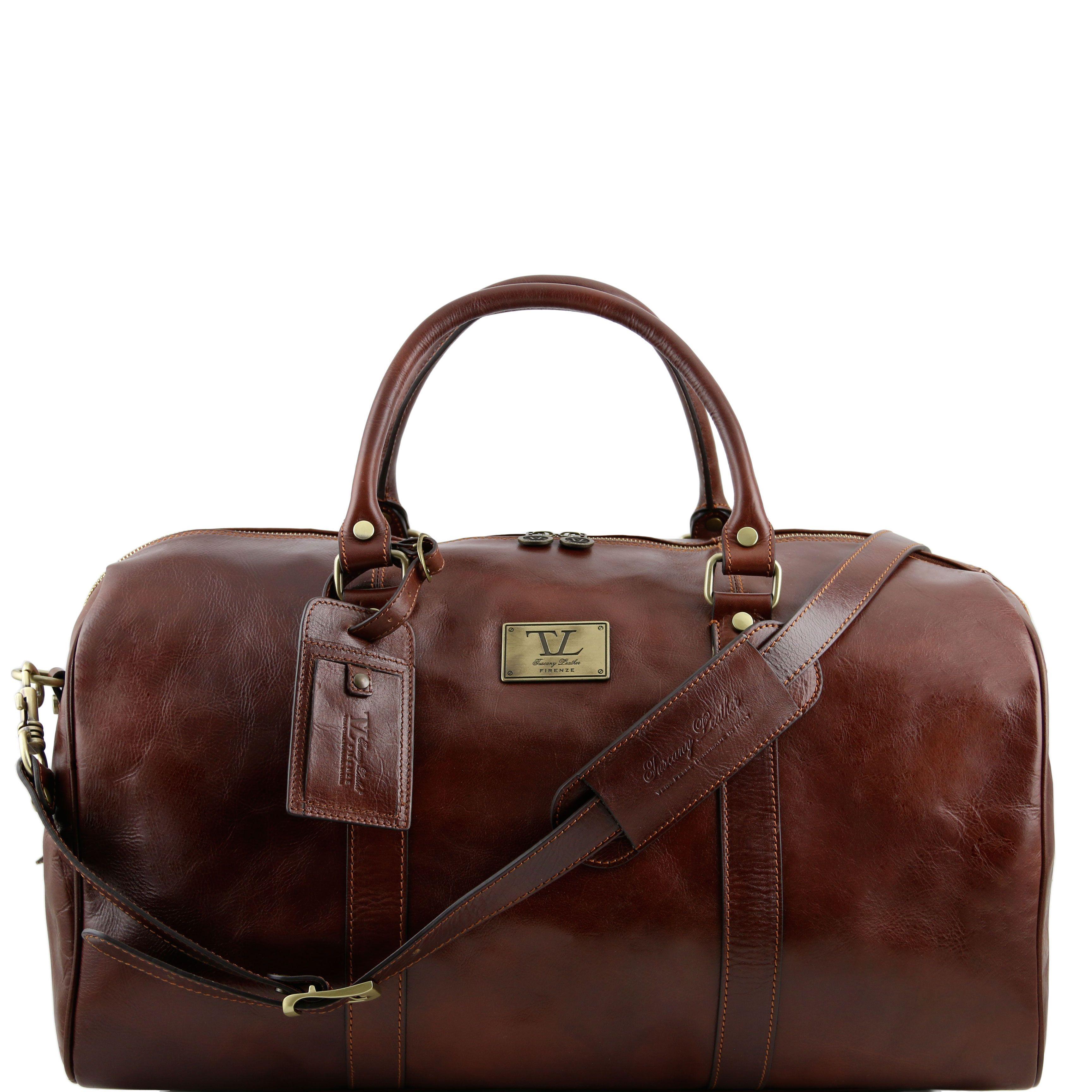 Tuscany Leather TL Voyager Sac de voyage en cuir avec boucles - Petit modèle Miel ISx5C13