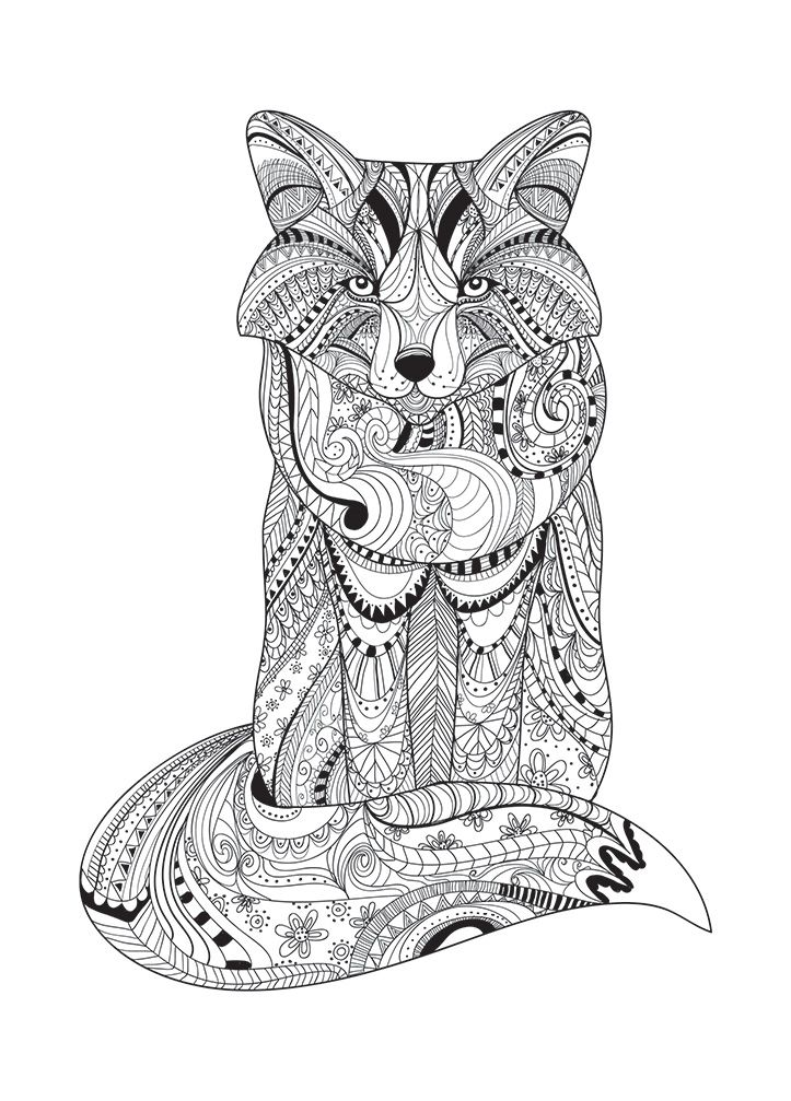 Wolf Zentangle Sam Illustraties Ausmalbilder Ausmalen Malbilder