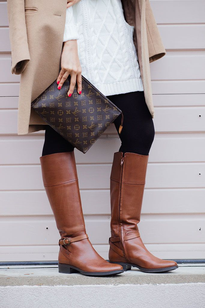 5f2559fca95d GEOX Meldi Brown Riding Boots Louis Vuitton Toiletry Pouch 26 Poche  Toilette 26 Blogger Outfit