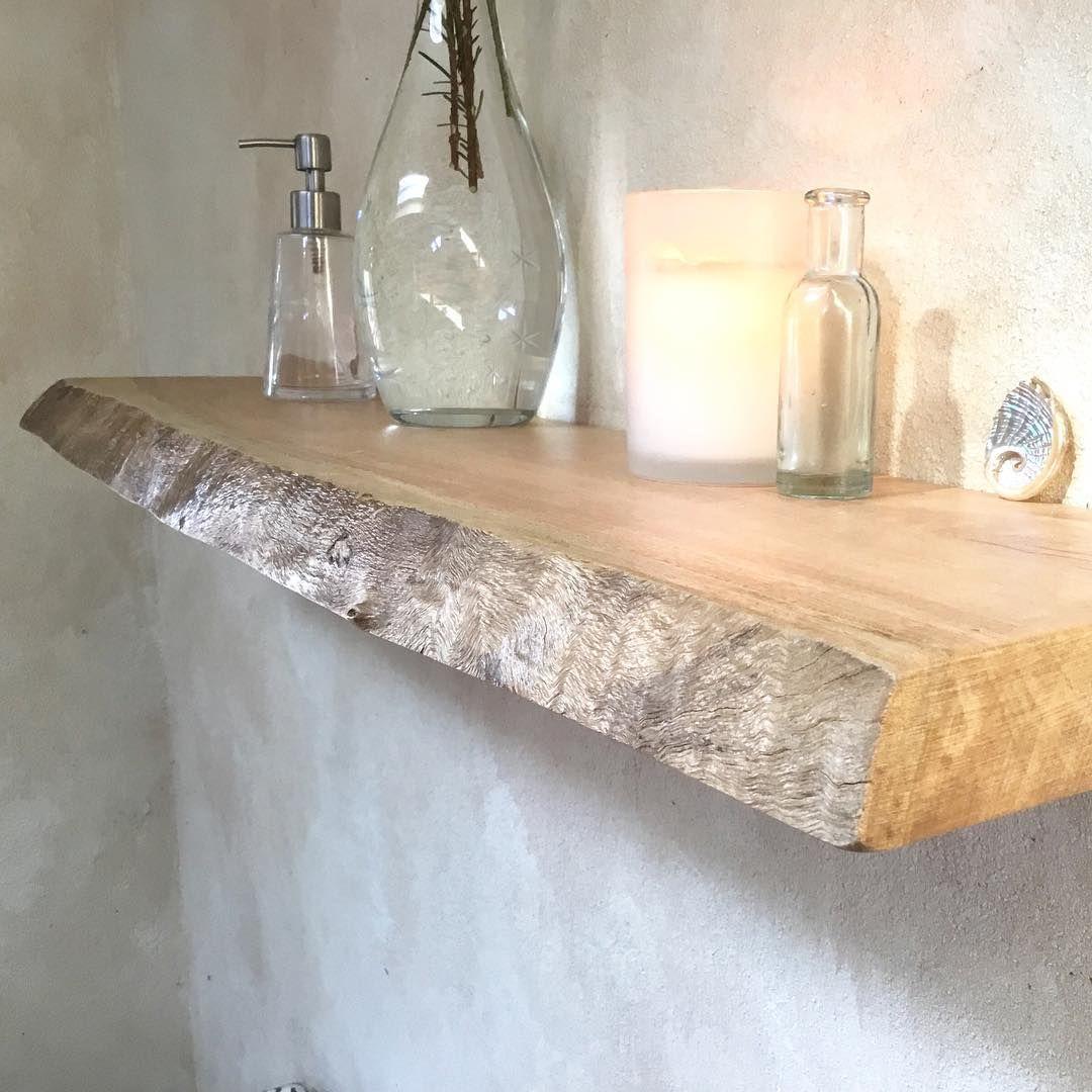 Floating Shelves Timber Live Edge Blackbutt Coastal Home Driftwood