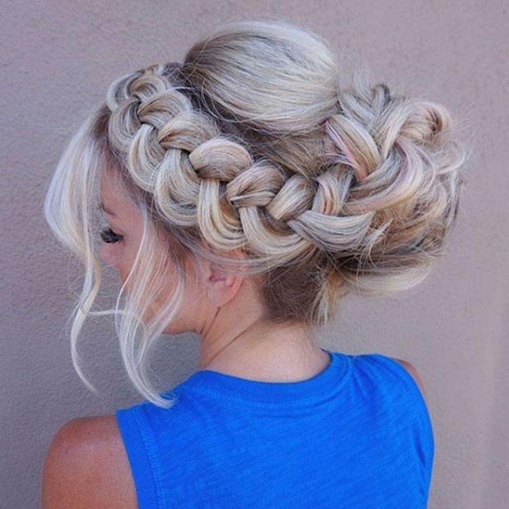 38 Beautiful Crown Braid Hairstyles Ideas Formal Hairstyles