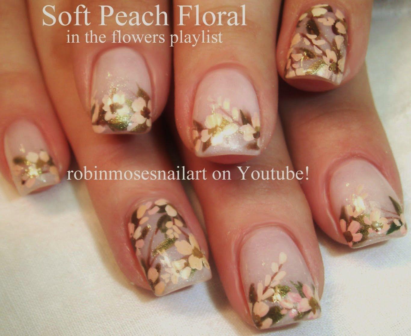 Vintage Flower Nail Art Robin Moses Nail Art Videos Pinterest