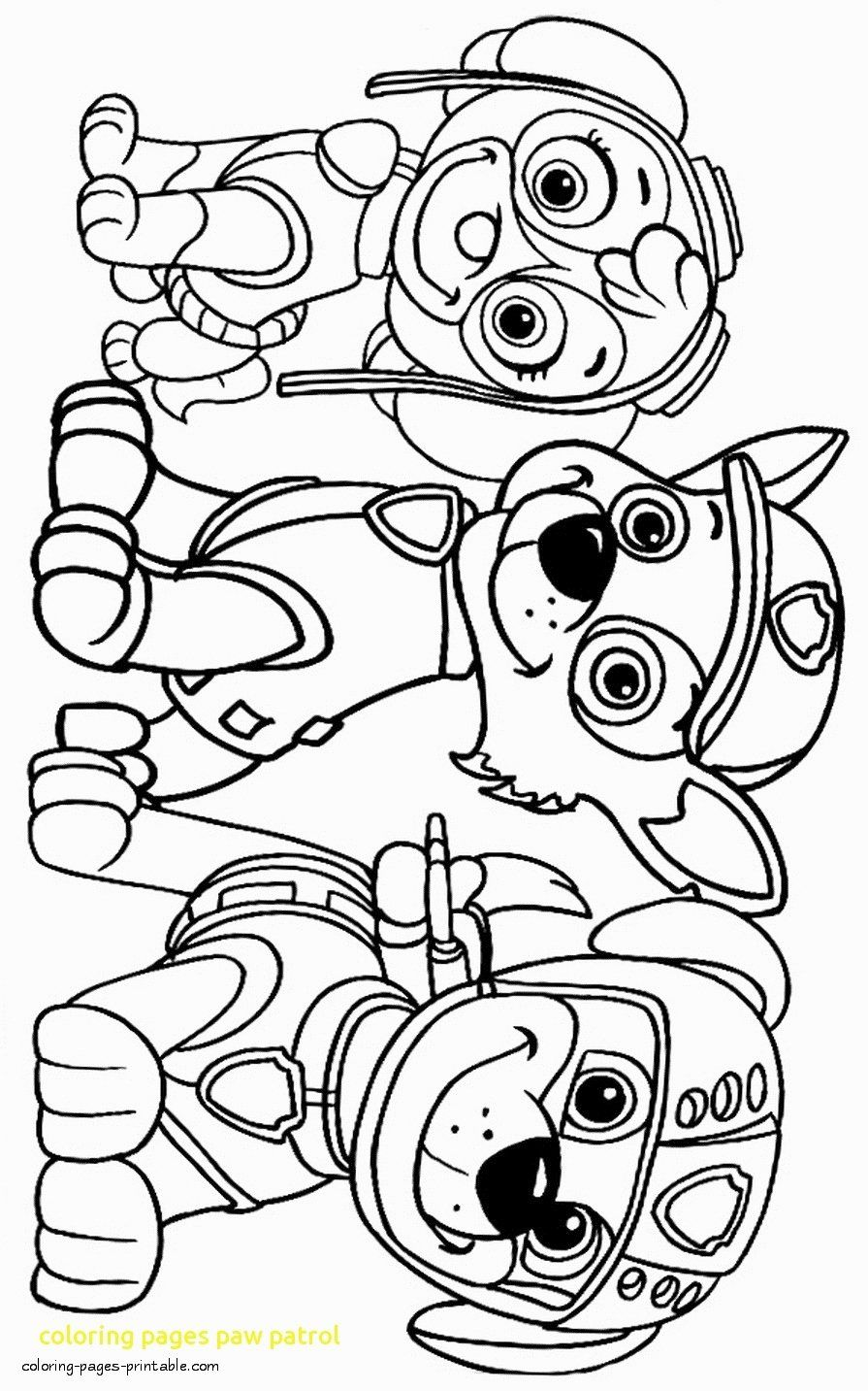 Paw Patrol Coloring Pages For Kids Free