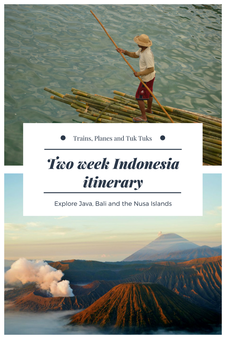 This two week Indonesia itinerary will give you everything you need to plan a short trip to Java, Bali and Nusa Lembongan