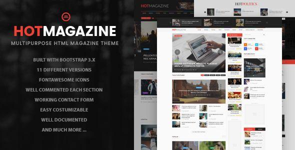Hotmagazine News Magazine Html Template Template Website And