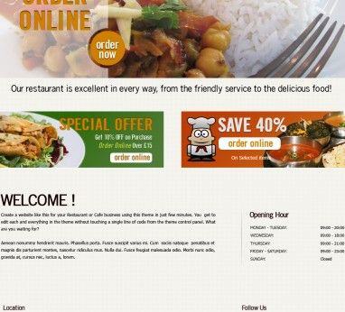Template 6 - Indian Restaurant & Takeaway Website Template ...
