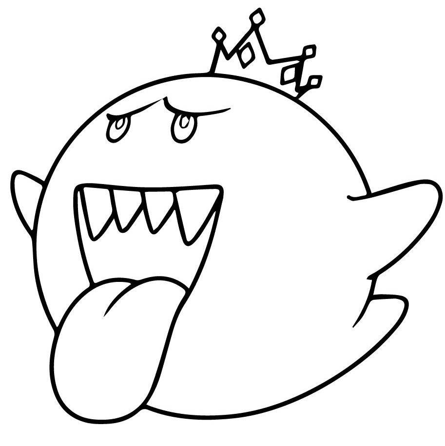 Mario Coloring Pages Mario Coloring Pages King Boo Super Mario