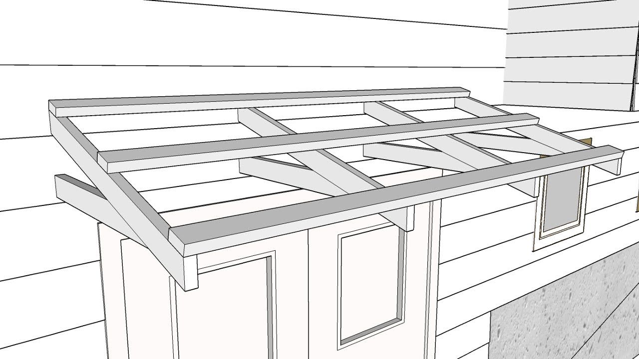 Building a Simple Roof Over a Door Part 1 Making a