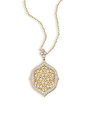 Jude Frances 18k Moroccan Diamond Quad Pendant Necklace cOMz4j