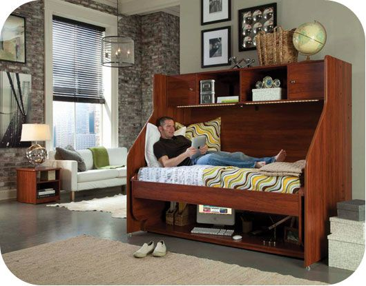 TRANSFORMING DESK With Twin Bed #bed #desk #adult #berg
