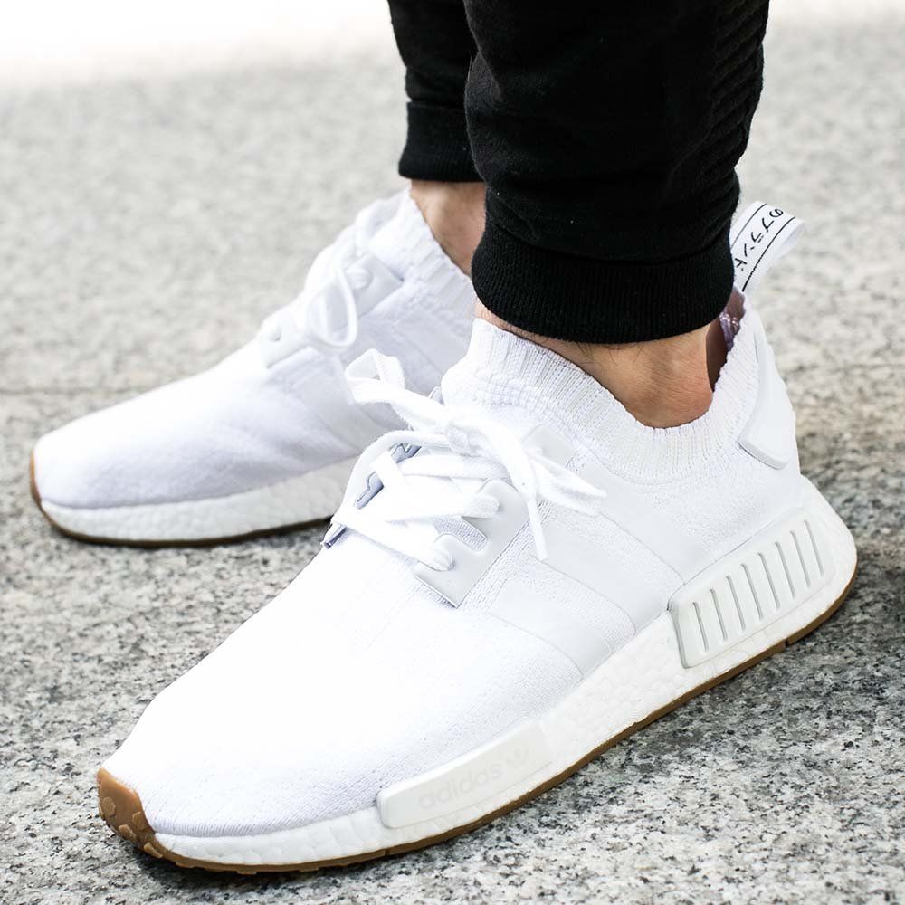 How the adidas NMD R1 Primeknit 8220 OG White Looks On Feet on
