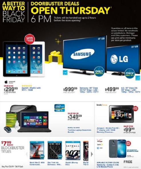 Sneak Peek Best Buy Black Friday Ad 2013