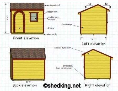 10x8 Saltbox Shed Plans Small Shed Plans Shed Floor Plans Shed