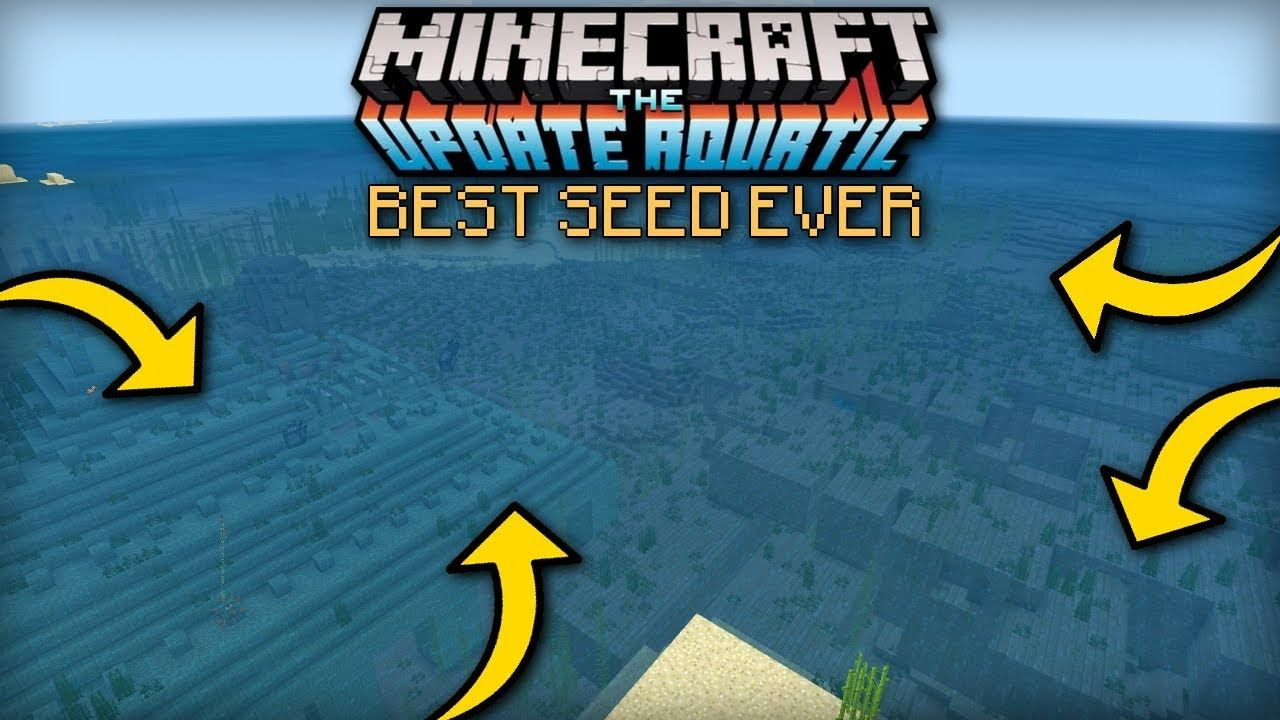 Minecraft - BEST AQUATIC UPDATE SEED EVER - MCPE / Xbox
