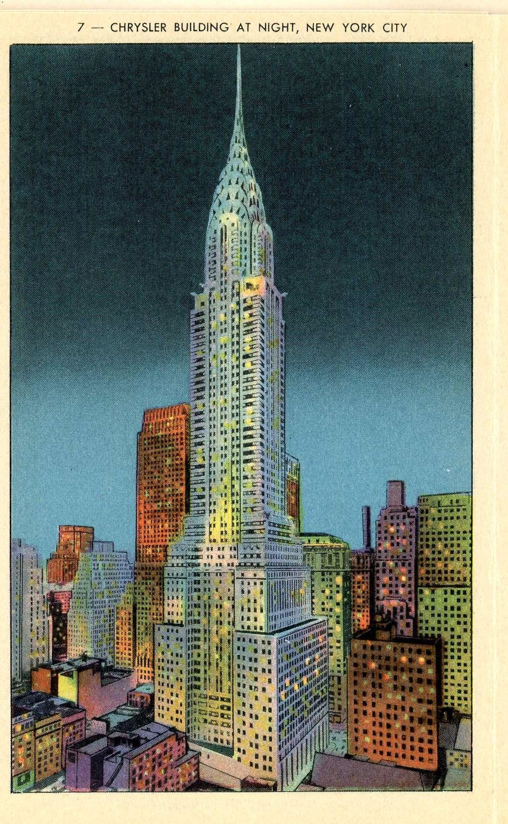 Art Posters Visit New York Vintage Travel Poster Multiple Sizes Chrysler  Building Art