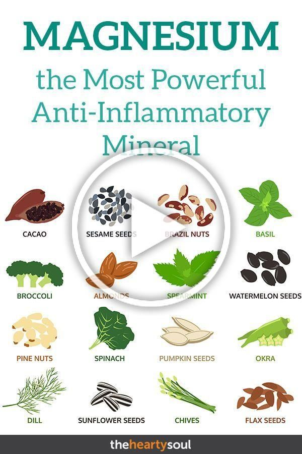Why Magnesium is the Most Powerful Anti-Inflammatory Mineral Known to Man | The Hearty Soul. #health...
