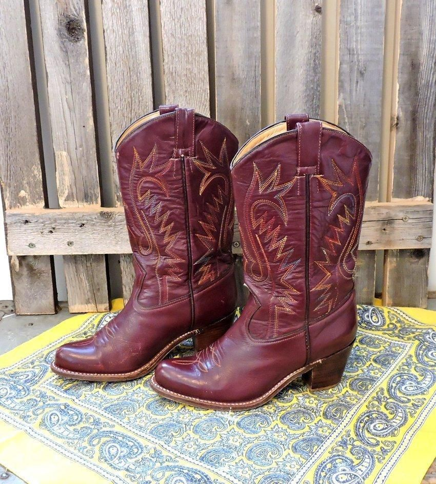 195c6e4b5a1 Womens cowboy boots 7 / Vintage Morgan Miller Cowgirl boots / Free ...