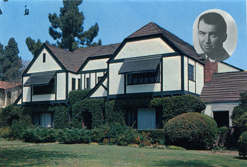 Home of james stewart beverly hills california old for Movie star homes beverly hills