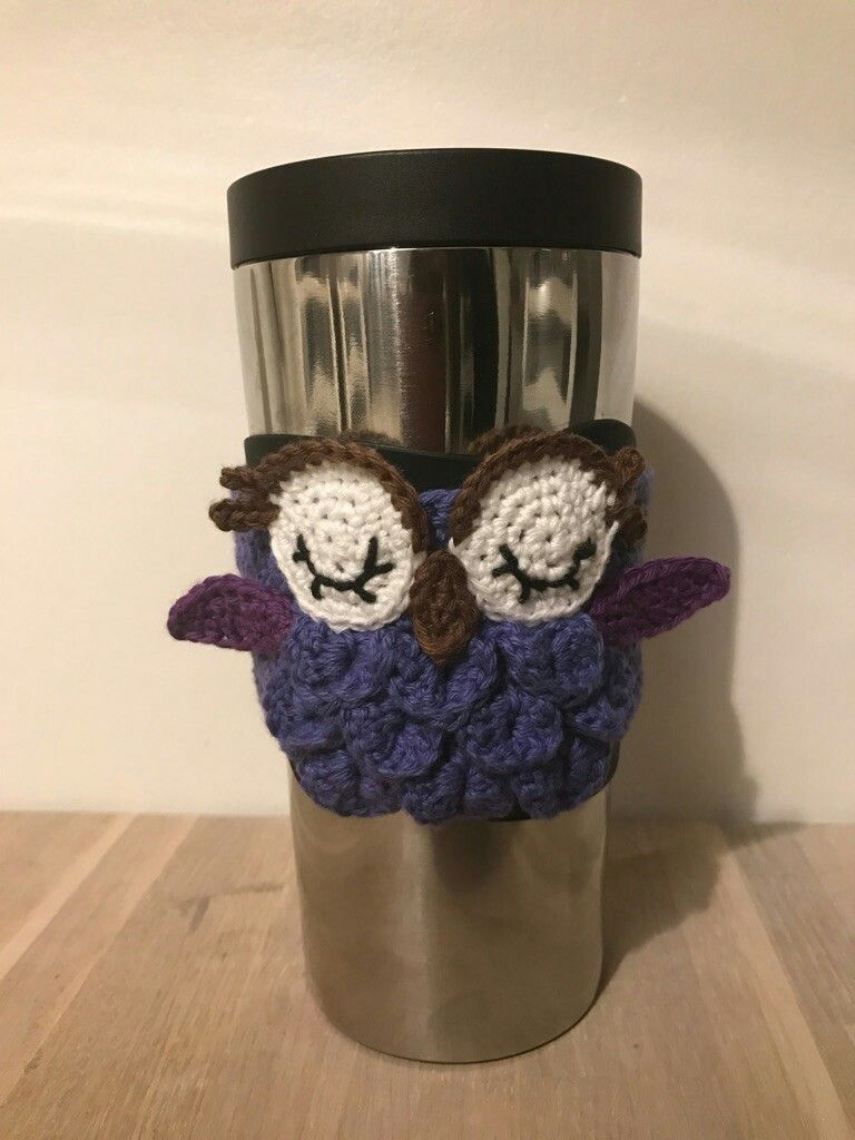 Crochet Owl for a coffee/tea cup