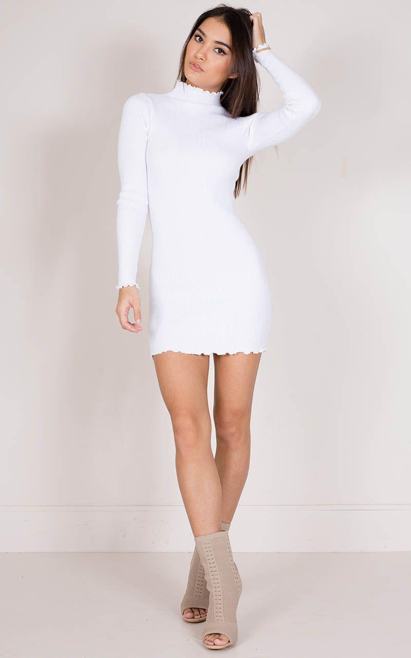 50+ White knit dress information