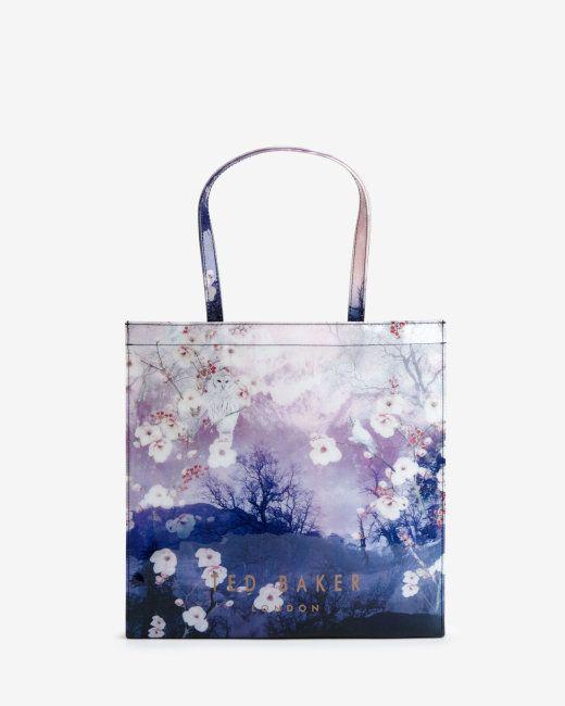 Large Misty Mountains shopper bag - Mid Blue | Bags | Ted Baker UK