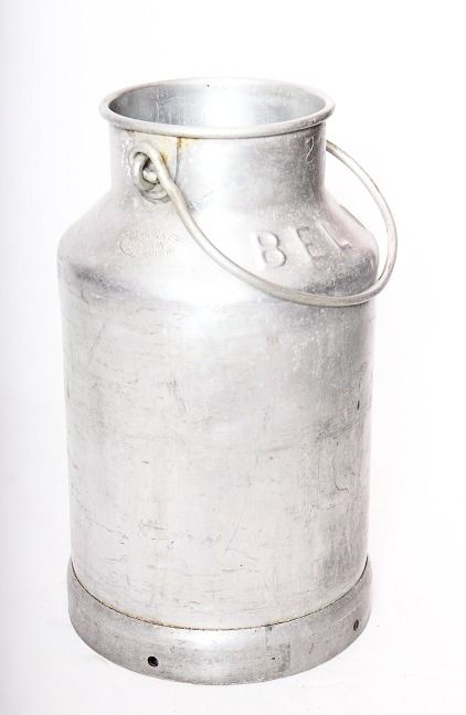 """Extrêmement Ancien pot à lait en aluminium """"Hugonnet Dijon Almasilium"""". Idée  KP97"""