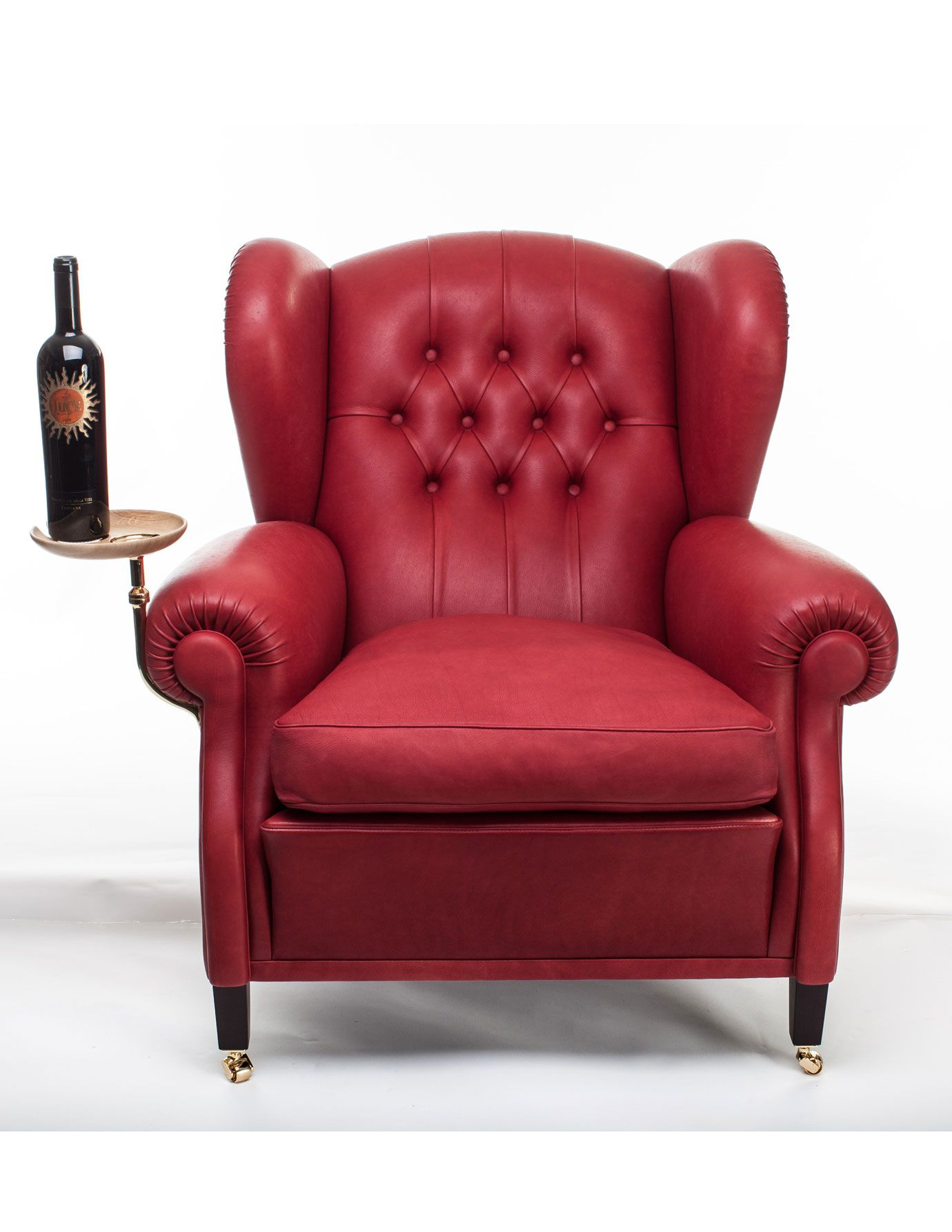 Armchair w/ small, attached table