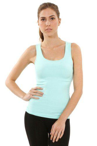 fabe2367de120 Sugarlips Women s Seamless Rib Tank Tops