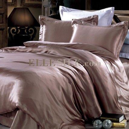 Elle Silk Dusty Rose Duvet Cover Silk Bedding Linen