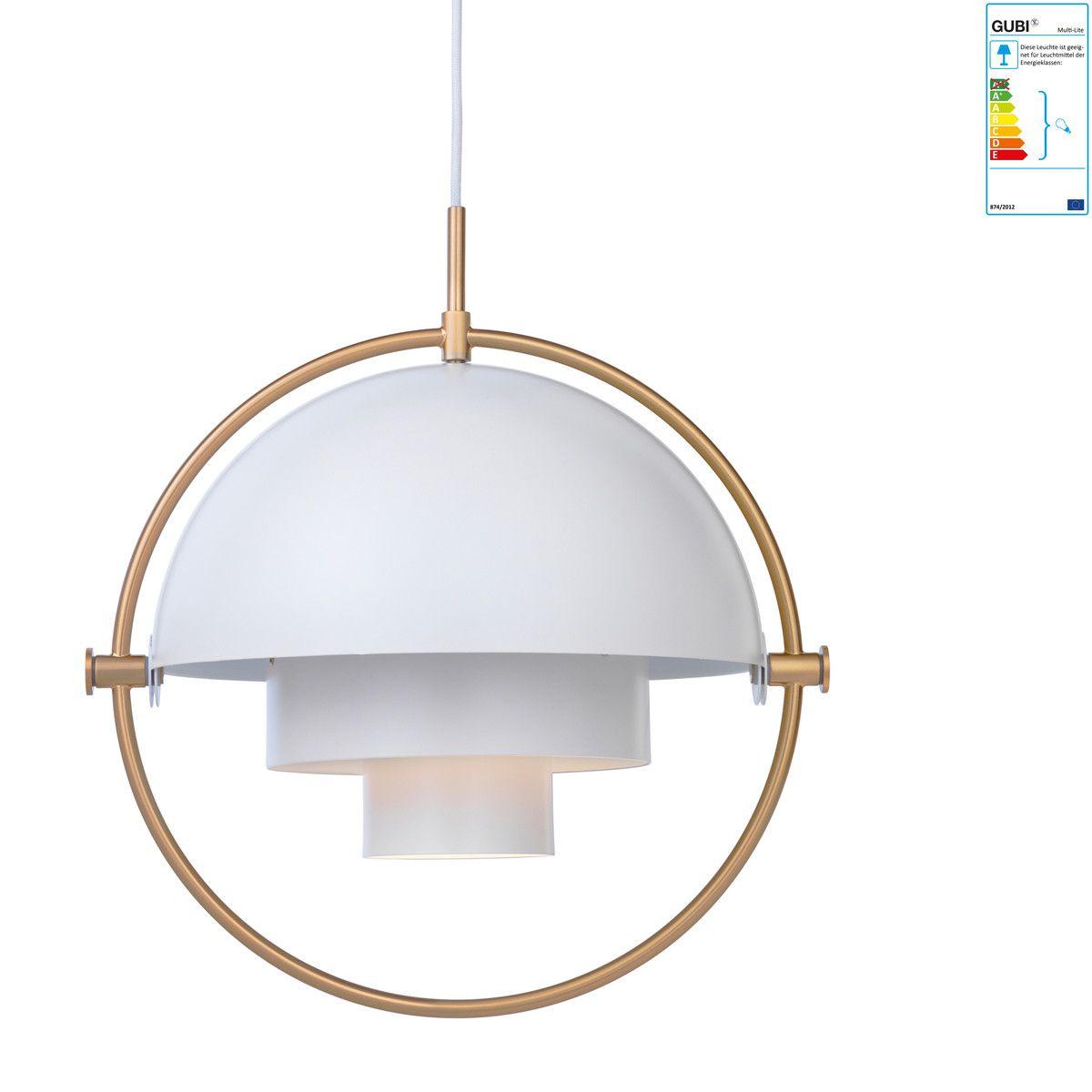 Gubi Multi Lite Pendelleuchte O 36 Cm Messing Weiss Schwarz Online Kaufen Bei Woonio Deckenleuchten Pendelleuchte Anhanger Beleuchtung